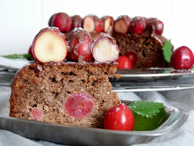 Koláč s ořechy, Margot a třešněmi - bez mouky