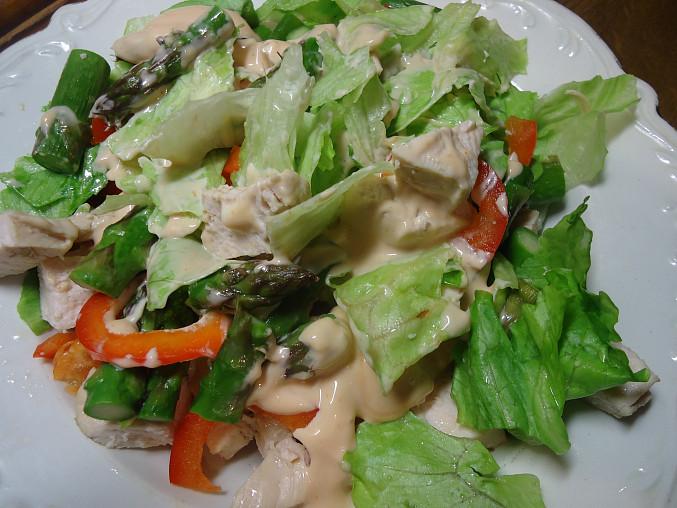 Kuřecí salát s chřestem