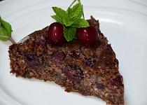 Ořechovo - čokoládový koláč s třešněmi