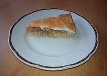 Ovesný koláč s jablky a sněhem