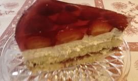 Ovocný dort s tvarohovou šlehačkou a želatinou
