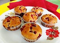 Rybízové muffiny s jogurtem