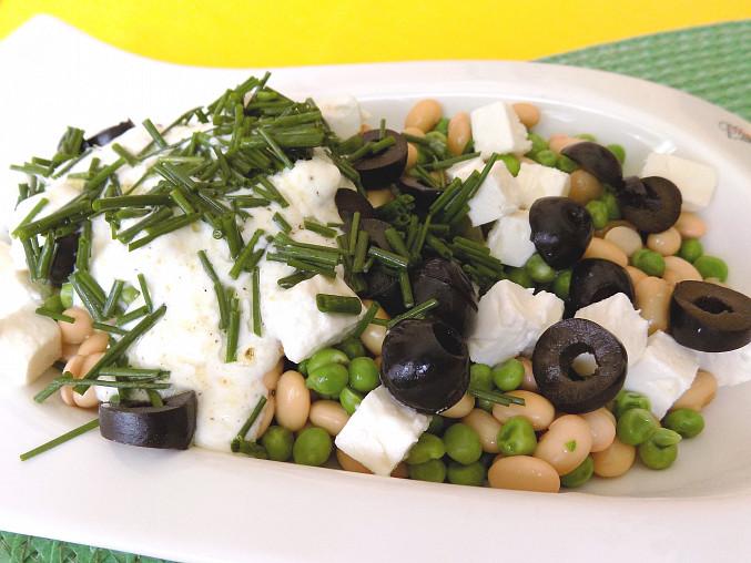 Sójovo-hráškový salát