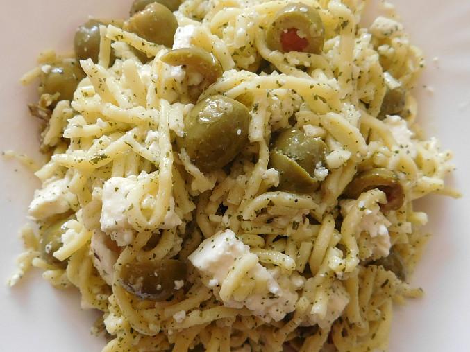Špagety s olivami a sýrem, Špagety  s olivami a sýrem