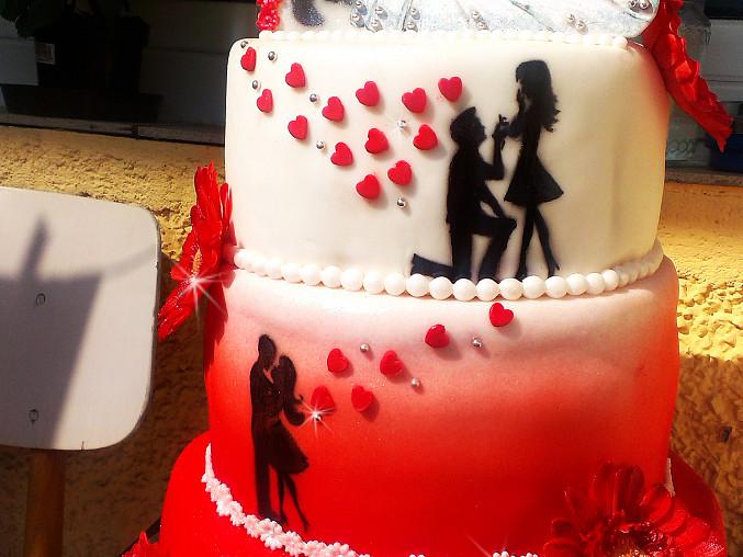 Svatební červeno-bílý