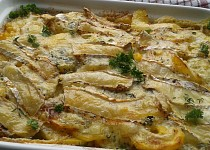 Sýrové brambory s kukuřicí