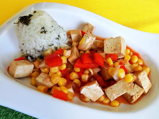 Tofu na víně