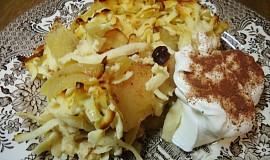 Zapečené štíhlé nudle ( šmakoun) ala žemlovka