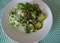 Zelené špagety