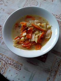 Zeleninová polévka s koriandrem