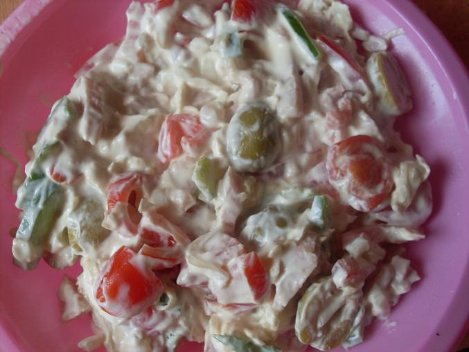 Zeleninový salát s Lučinou