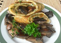 Bylinková omeleta s houbami