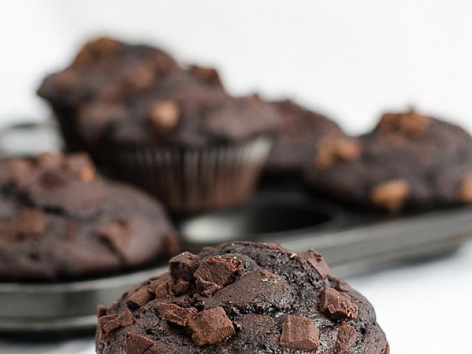 Čokoládové muffiny s podmáslím