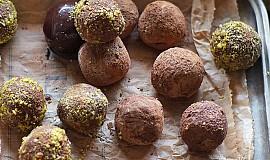 Čokoládovo - karamelové lanýže s rumem