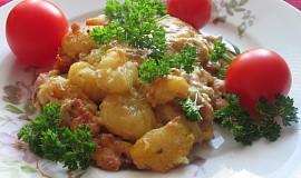 Gnocchi zapečené se smetanou, pórkem a anglickou slaninou