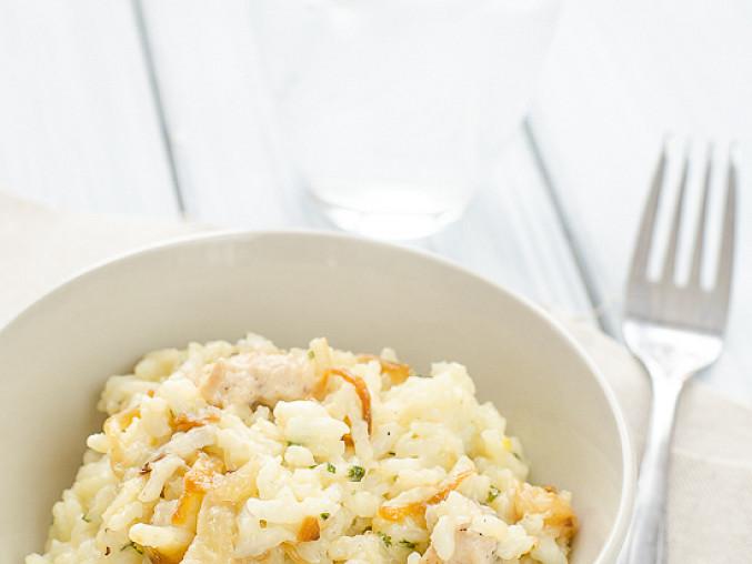 Italské rizoto s kuřecím a karamelizovanou cibulkou