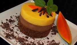 Mangovo - čokoládové dortíčky
