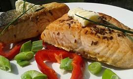 Máslový losos na kmíně