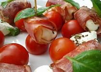 Mozzarella smažená ve slanině