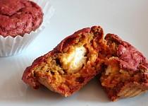 Muffiny z červené řepy s kozím sýrem