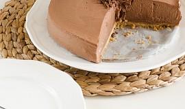 Nepečený čokoládový cheesecake s kondenzovaným mlékem