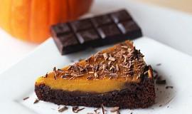 Brownies s dýňovým krémem - pumpkin pie brownie