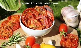 Rajčatové bylinkové chipsy s parmezánem