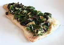 Rybí filet pečený se špenátem