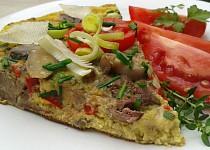 Rychlá omeleta s krůtími játry