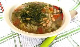Sójová polévka s fazolkami