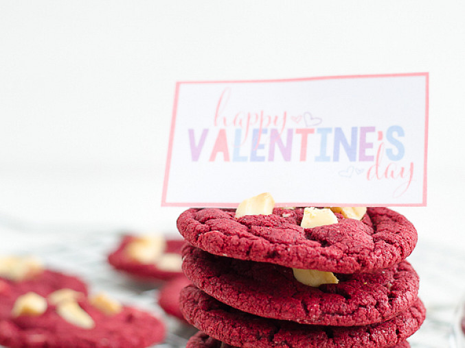 """Valentýnské cookies """"červený samet"""""""