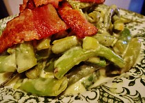 Zelené fazolkové lusky na smetaně