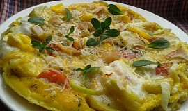 Bramborová omeleta s tvarůžky