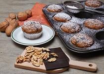 Celozrnné dýňové muffiny s ořechy a čokoládou