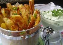 Česnekové hranolky s dipem Wasabi