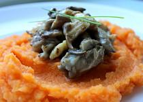 Hlíva ústřičná s mrkvovo-celerovým pyré