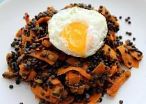 Kořeněná černá čočka s mrkví