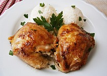 Kuře na másle a česneku