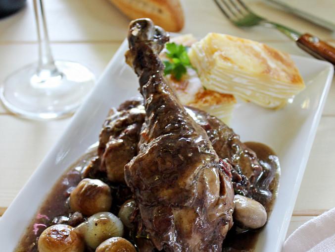 Kuře na víně