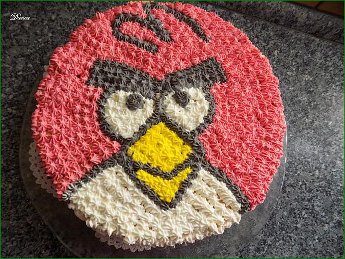 Nepečený dortík Angry Birds