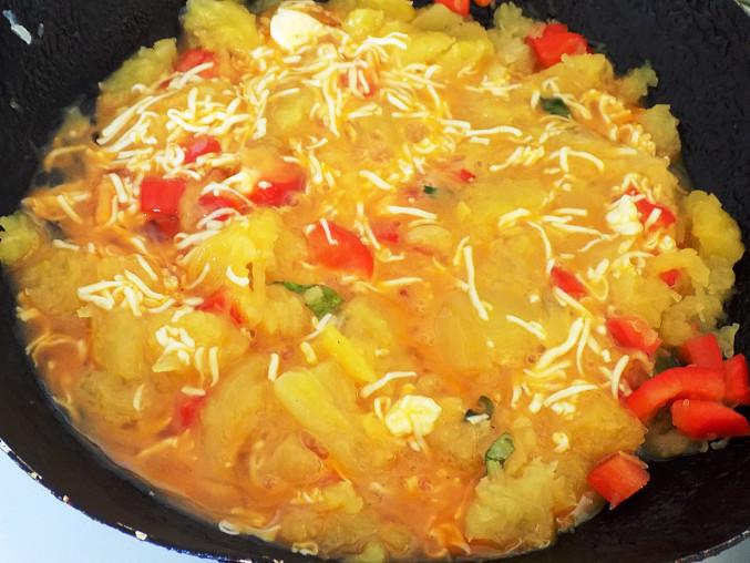 Omeleta ze špagetové dýně