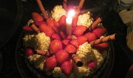 Ovocný dort s překvapením
