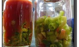 Papriky v rajčatové omáčce