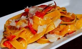 Tagliatelle s pečenou paprikou