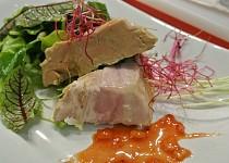 Terina z foie gras s pomerančovou redukcí