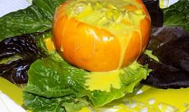Žlutá kulatá cuketa se žlutým ragú