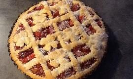 Linecký koláč s jahodami