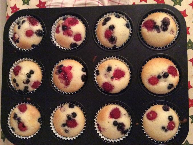 Muffiny s lesním ovocem