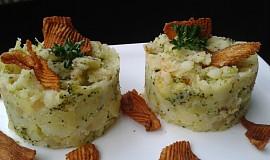 Šťouchané brambory s brokolicí