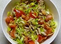 Pórkový salát s mandlemi